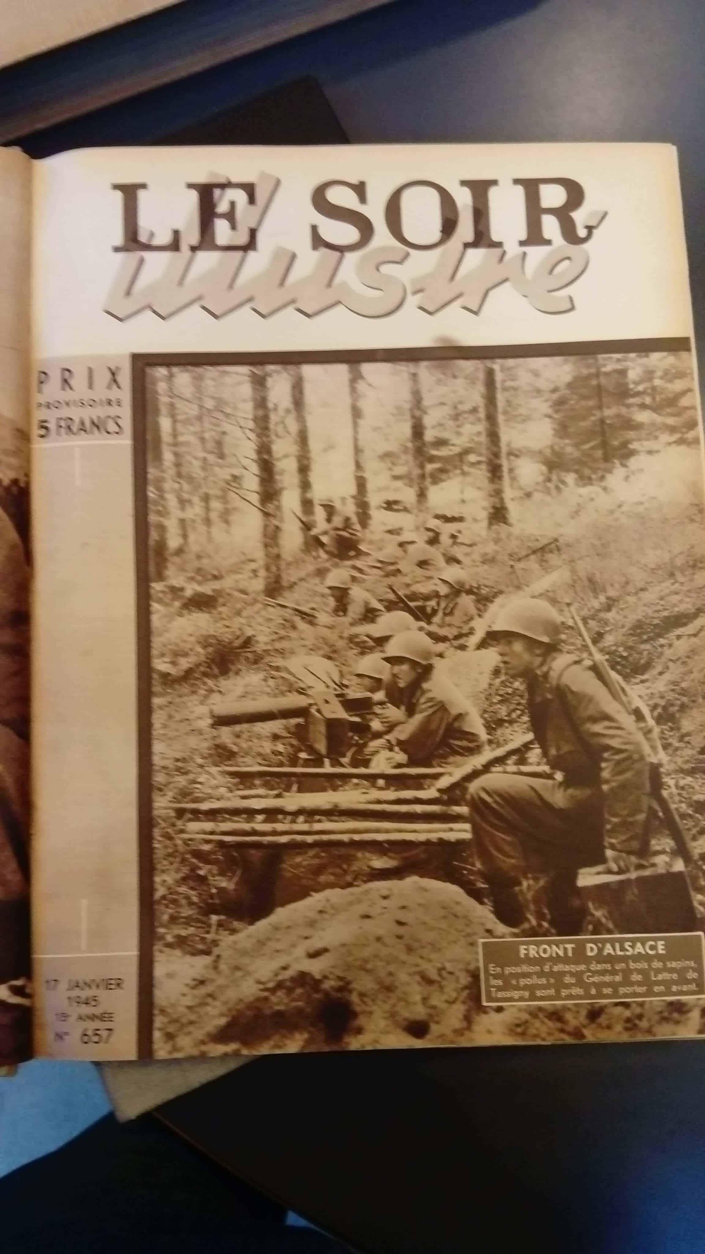 Une couverture du magazine Le Soir Illustré... qui rappelle notre 1er numéro de 1944. Non ?